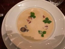 Morel mushroom soup