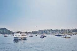 Floating on Lake Washington