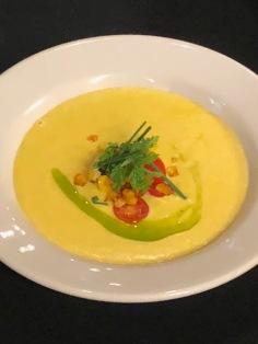 Delicious silky corn soup